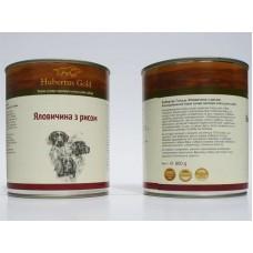 Hubertus Gold - консервированный корм для собак говядина и рис