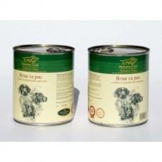 Hubertus Gold - консервированный корм для собак, ягненок и рис