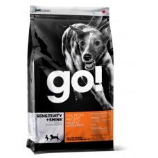 GO! SENSITIVITY + SHINE Для Щенков и Собак со свежим Лососем и овсянкой (Sensitivity + Shine Salmon Dog Recipe)(22/12)