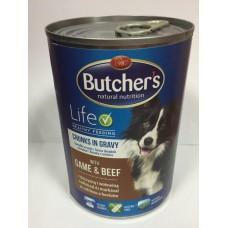 Butcher`s (Бутчерс) Life консервы для собак дичь и говядина, 400 г.