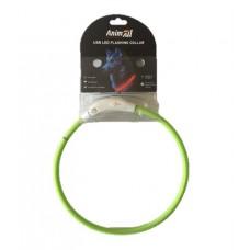 AnimАll (Энимал) ошейник светящийся 35 см, зеленый