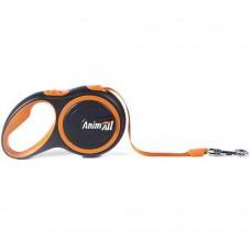 AnimАll (Энимал) рулетка поводок для собак до 25 кг, оранжевый