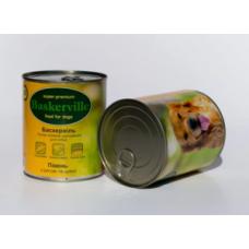 Корм консерва Baskerville Баскервіль для собак м'ясо курки рис і цукіні 800 г