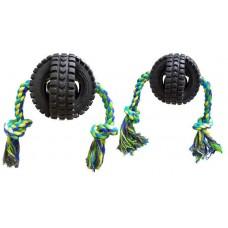 Игрушка Pet Qwerks (Пэт Кверкс) веселый звон мячик-колесо с веревкой S
