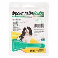 Фронтлайн Комбо Спот Он монопипетка для собак 2-10 кг, S