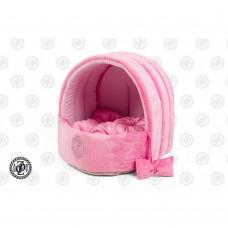ZOOM (Зум) Polka Velour лежанка, розовый бархат/розовый, размер 1, 35х30х30см.