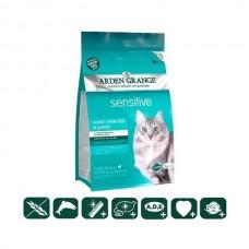 Arden Grange (Арден Грендж) Sensitive – сухой корм для кошек с деликатным желудком и/или чувствительной кожей (океаническая белая рыба и картофель)