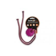 AnimAll Игрушка Fun шар с канатом, фиолетовая, 8 см (88184)
