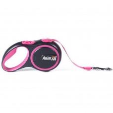 AnimАll (Энимал) рулетка поводок для собак до 25 кг, розовый