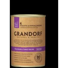 GRANDORF консервы для собак с Диким Кабаном и Индейкой