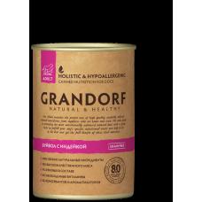 GRANDORF консервы для собак с Буйволом и Индейкой