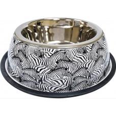 Миска  Animalier Zebra, нерж. з гумовим підставою 0,20л, 17см