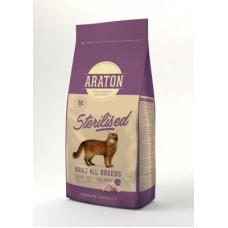ARATON STERILISED Adult All Breeds 15кg для стерилизованных кошек
