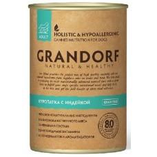 GRANDORF консервы для собак с Куропаткой и Индейкой
