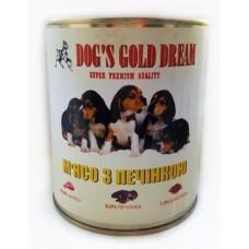 Консервы DOG'S GOLD DREAM DOG'S GOLD DREAM Мясо с печенью