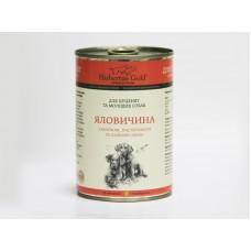 Hubertus Gold - консервированный корм для щенков и молодых собак, говядина, яблоко и пастернак